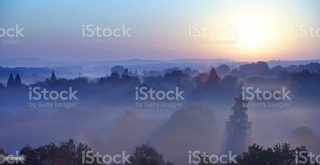 Surrey Hills Sunrise stock photo