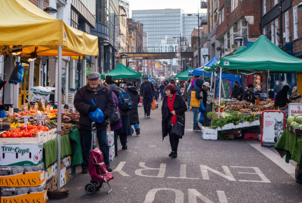 Surrey Street Market, Croydon stock photo