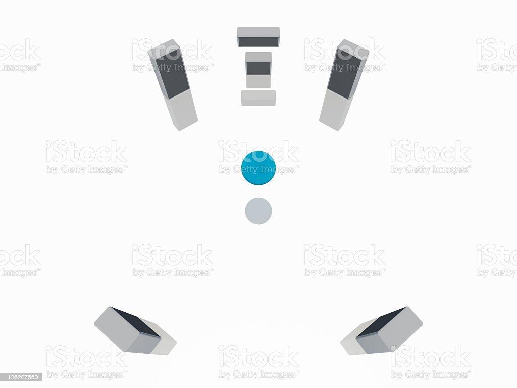 Surround sound 5.1 royalty-free stock photo