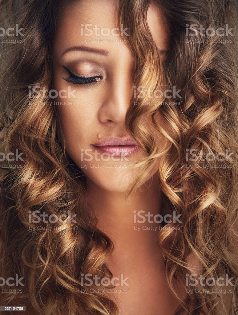 Surround yourself with beautiful hair, not negativity stock photo