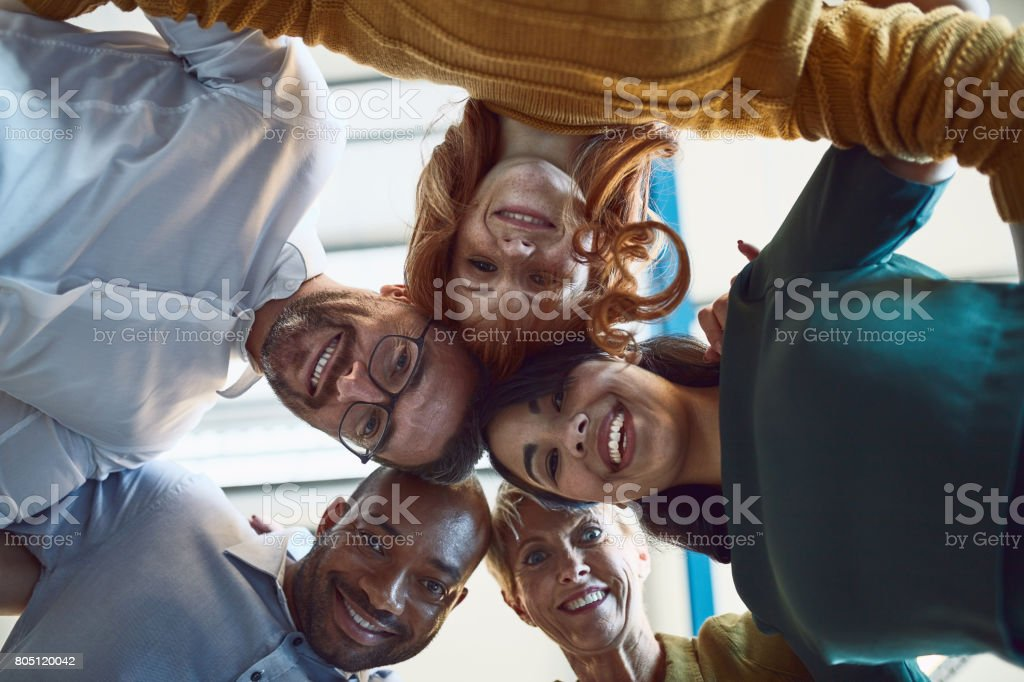 Surrounded by like minded go getters stock photo