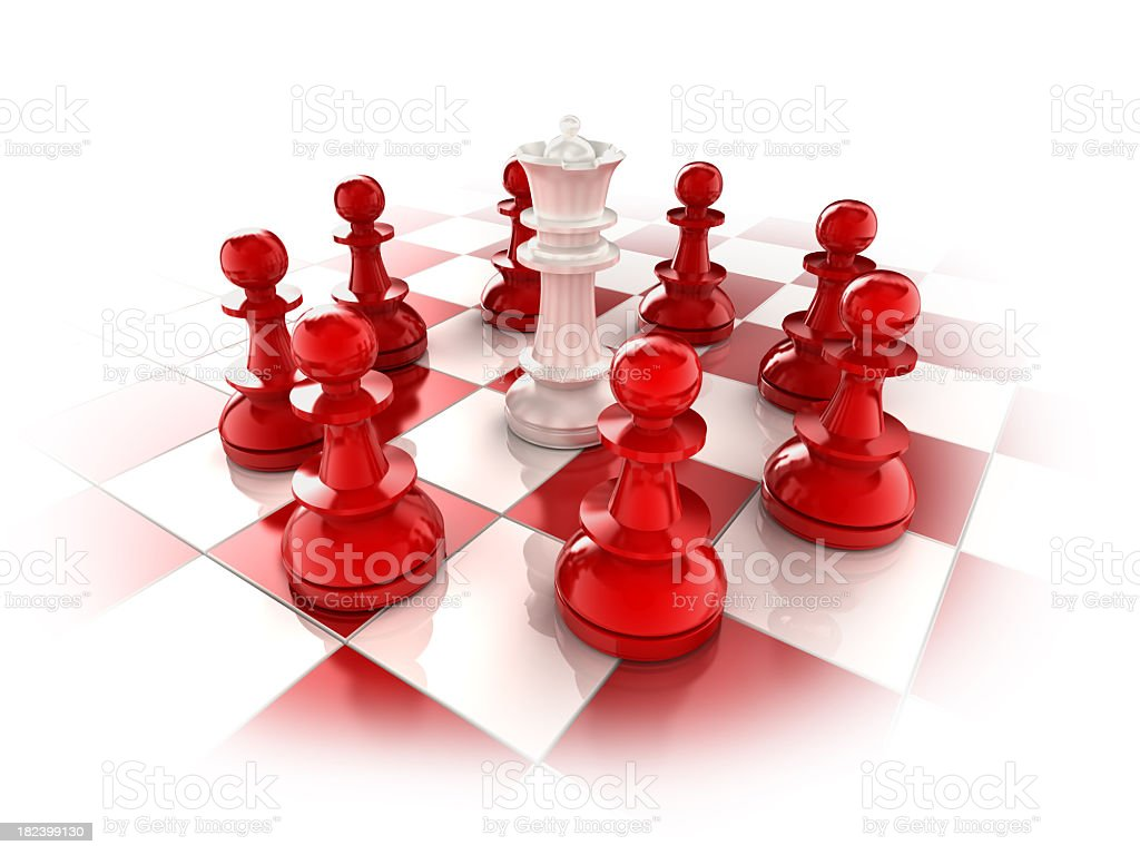 surrounded queen royalty-free stock photo