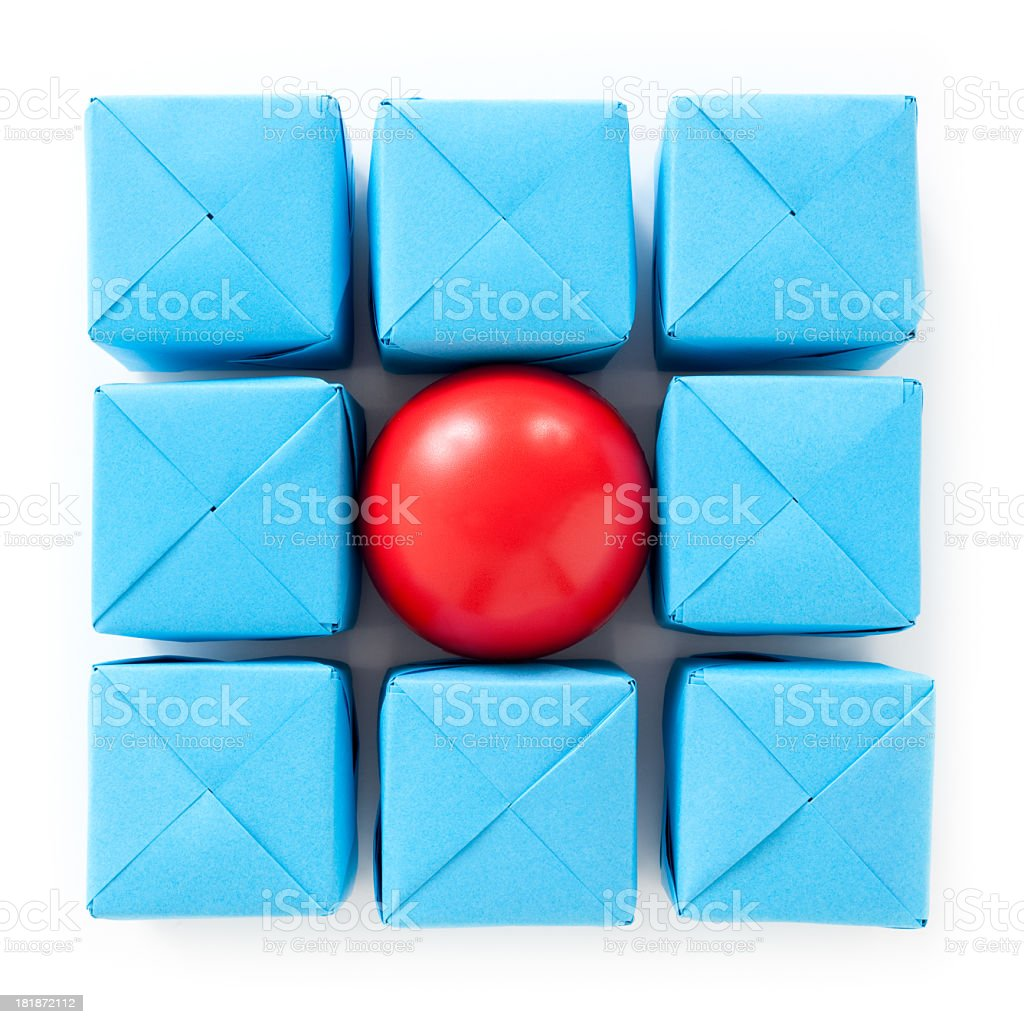 Surrounded red ball royalty-free stock photo