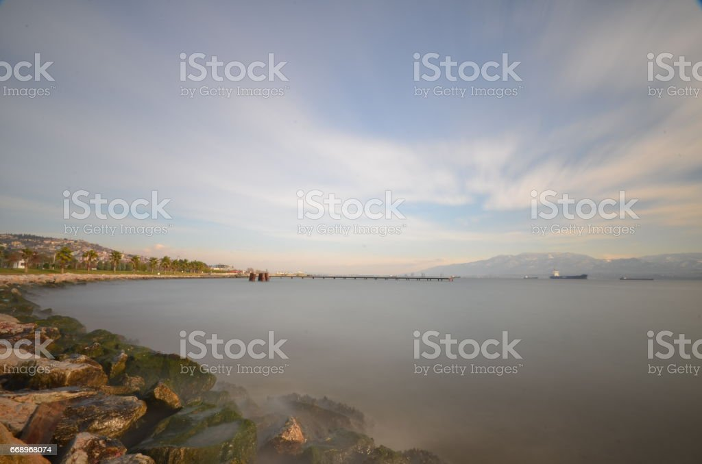 surrounding environment and marine natural park in Izmit city foto stock royalty-free