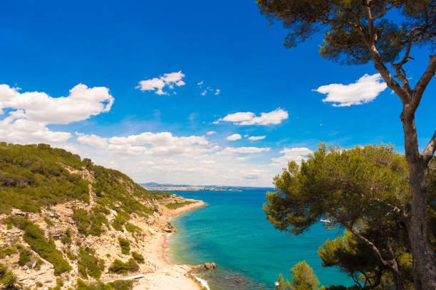 Umgebung von Salou - Küste, Tarragona, Katalonien, Spanien. Platz für Text kopieren – Foto
