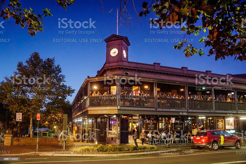Surry Hills - Clock Hotel stock photo