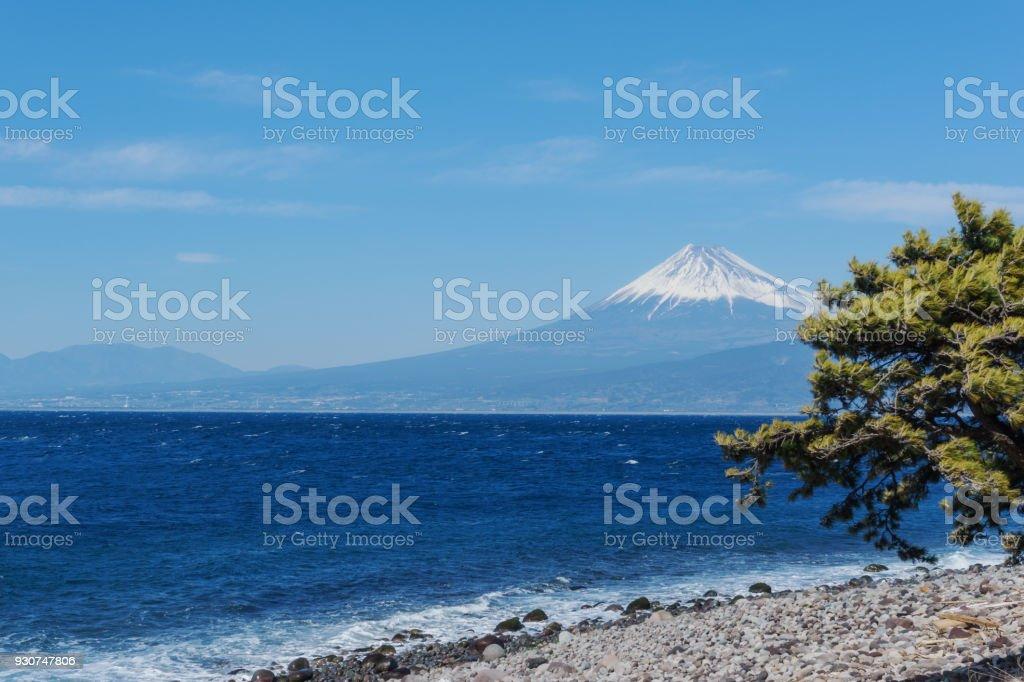 駿河湾と富士山 ストックフォト