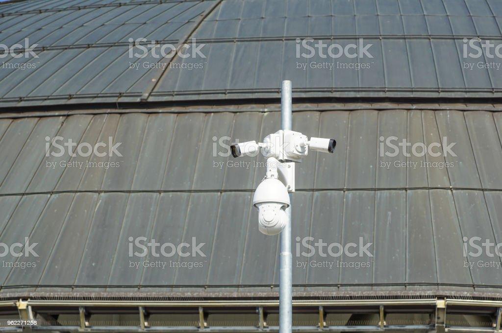 Surveillance camera in Dubai - generic CCTV equipment. Security technology - foto stock