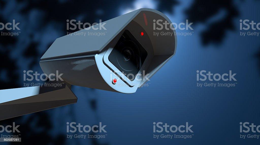 Vigilancia de la cámara en la noche, tiempo - foto de stock
