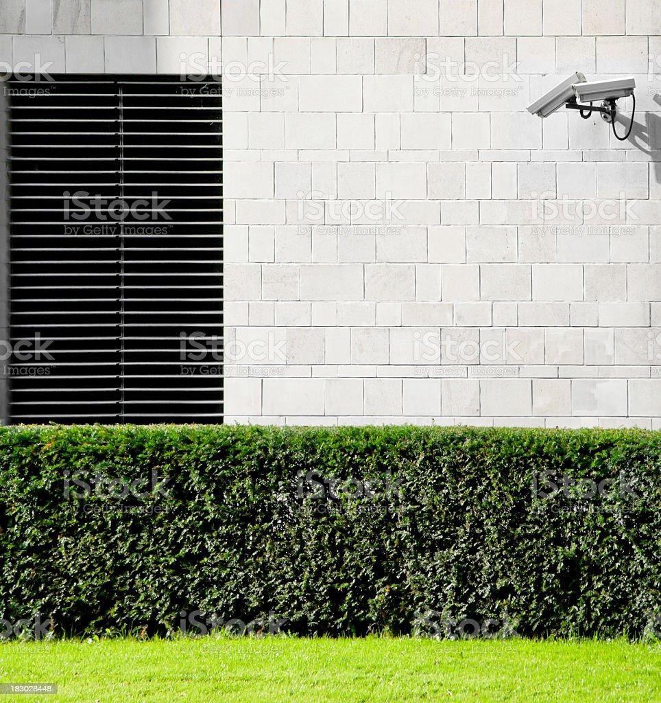 Surveillance Camera on Facade royalty-free stock photo
