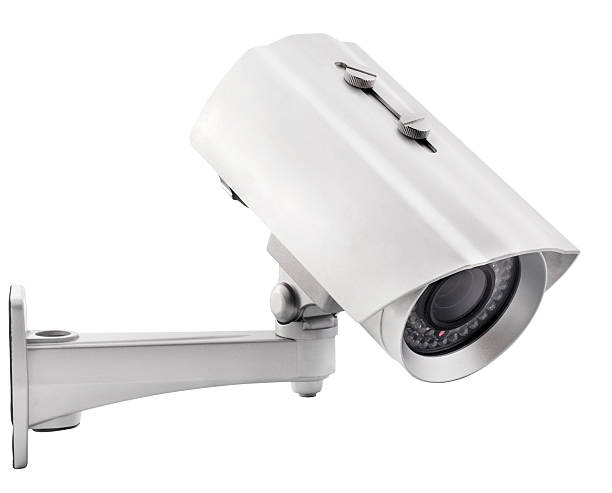 surveillance camera - big brother orwellian concept stock pictures, royalty-free photos & images