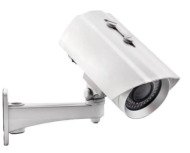 surveillance camera - bewakingscamera stockfoto's en -beelden