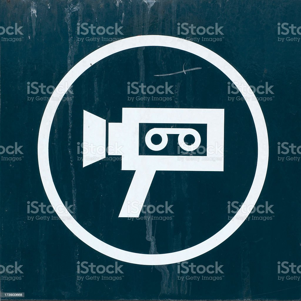 Surveillance  camera sign royalty-free stock photo