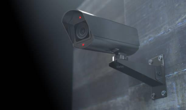 bewakingscamera's in het donker - bewakingscamera stockfoto's en -beelden