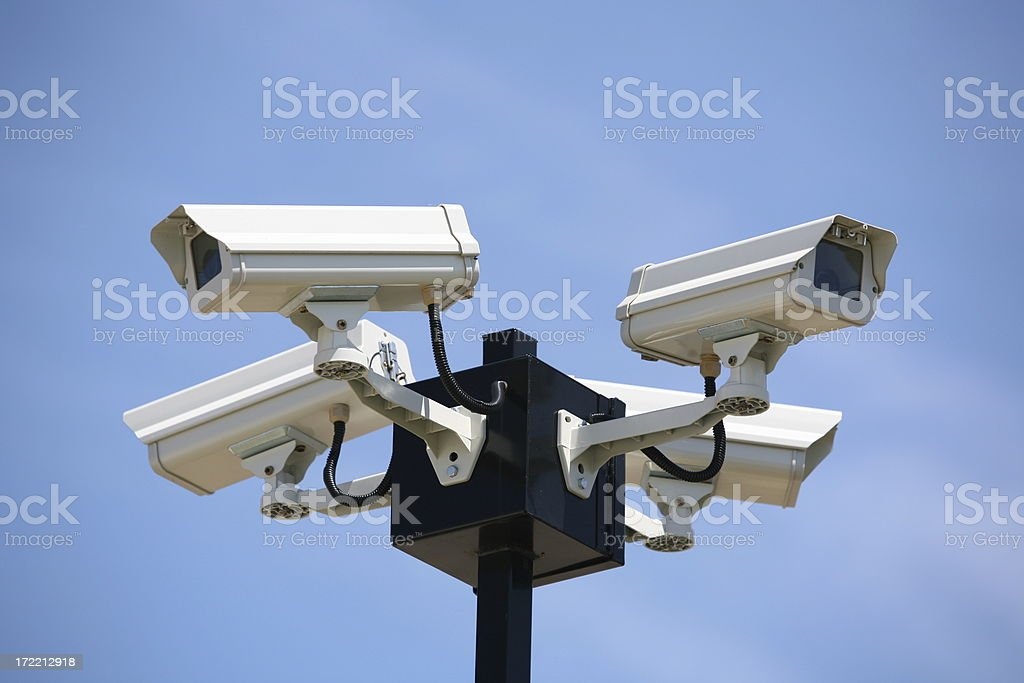 surveillance cameras royalty-free stock photo