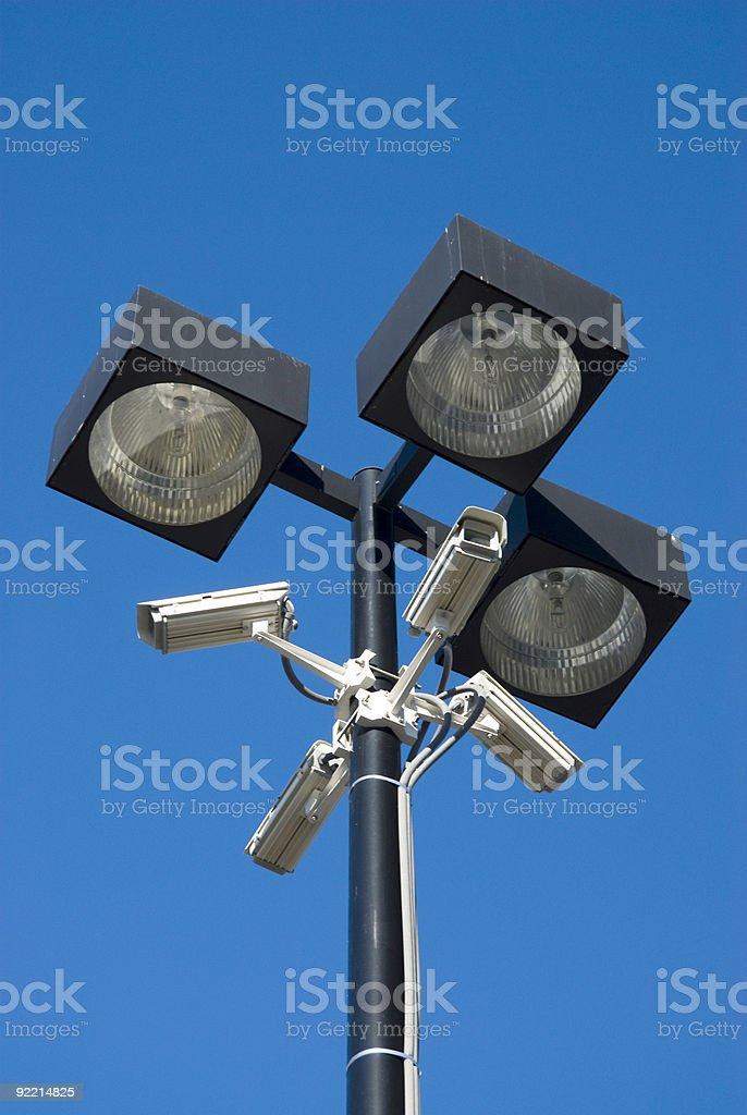 surveillance cameras royalty-free stock photo