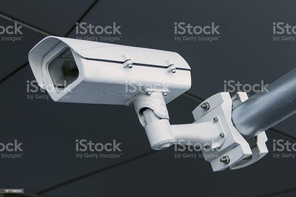 Surveillance CCTV security camera royalty-free stock photo