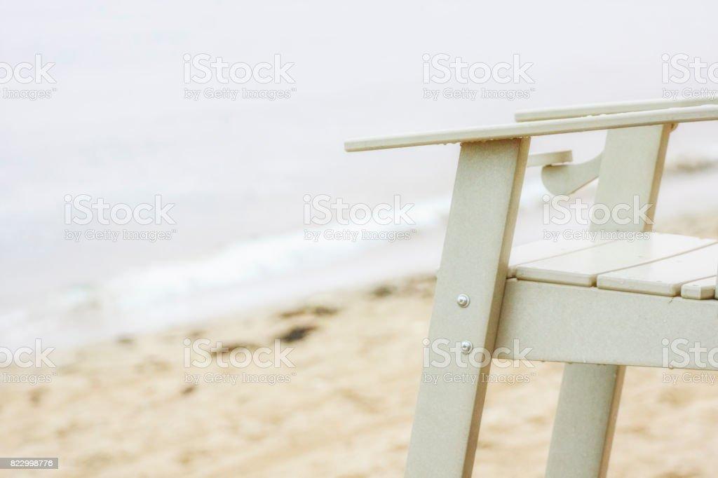 Surveillance de plage stock photo