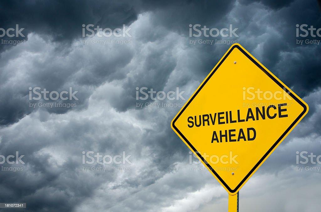 Surveillance Road Sign royalty-free stock photo