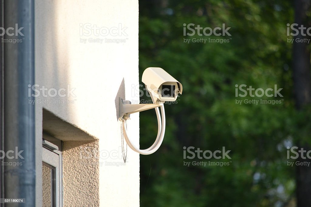 Surveillance, security camera, CCTV stock photo