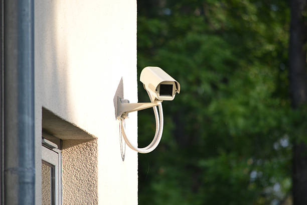 surveillance, security camera, cctv - big brother orwellian concept stock pictures, royalty-free photos & images