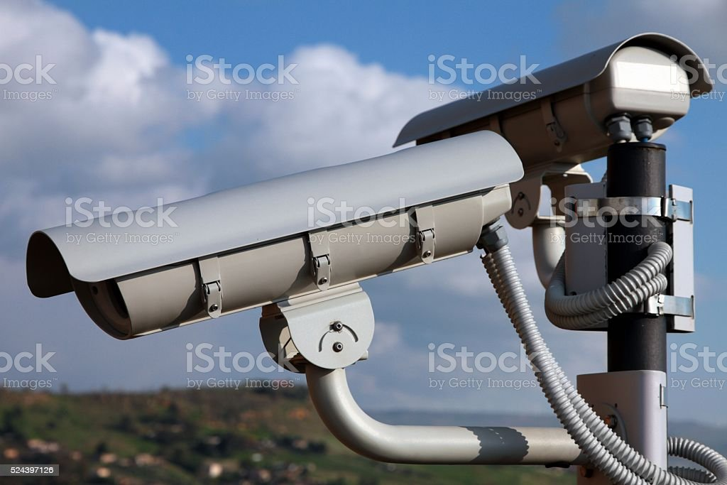 CCTV - Surveillance security camera stock photo