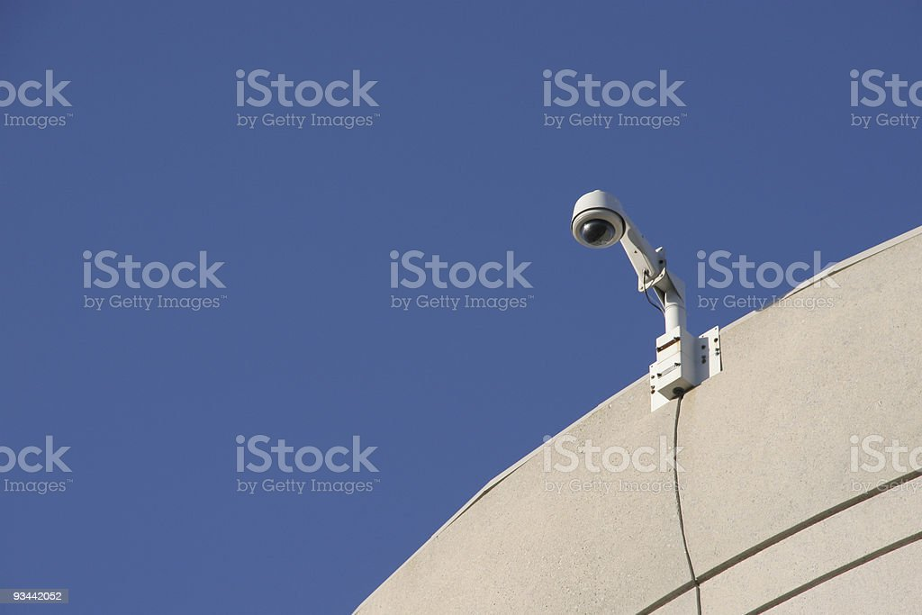 Surveillance Security Camera royalty-free stock photo