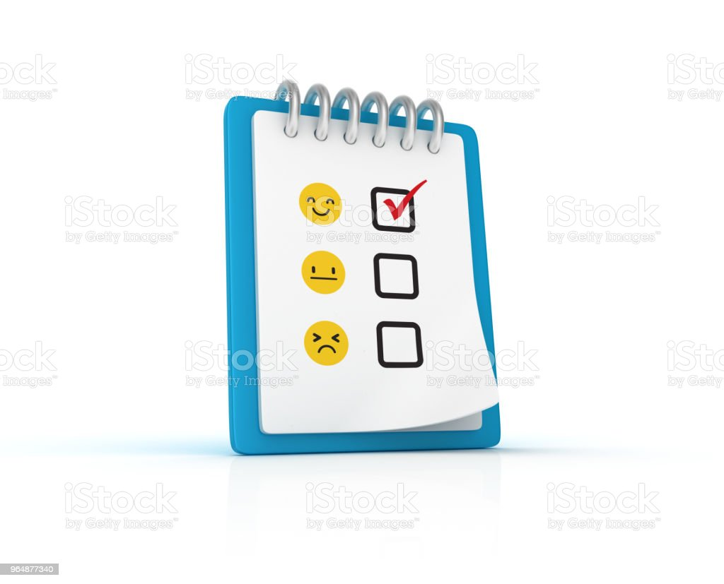 Survey Clipboard - 3D Rendering royalty-free stock photo