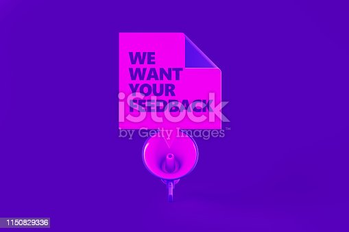 istock Survey Concept On Purple Background 1150829336