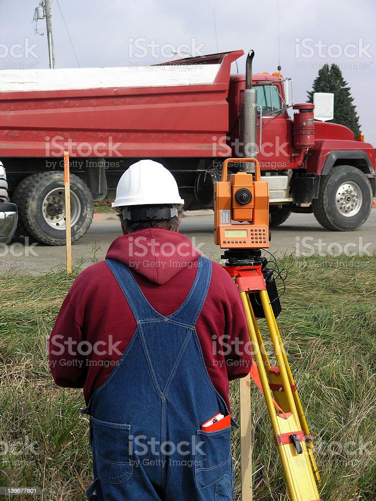 Survey Crew stock photo