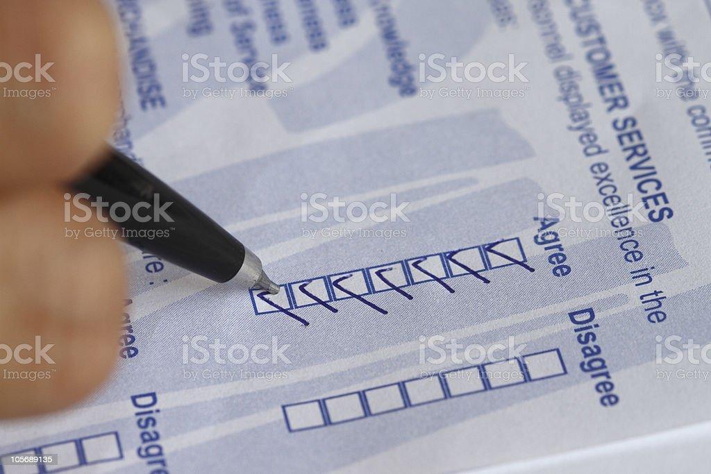 survey form stock photo