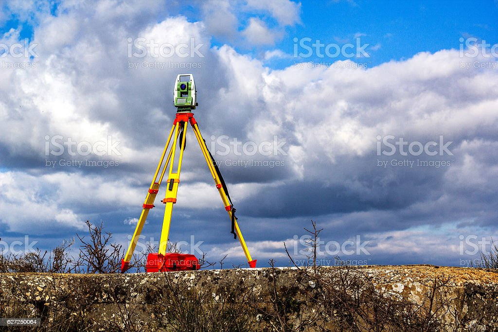 Survey total station foto royalty-free
