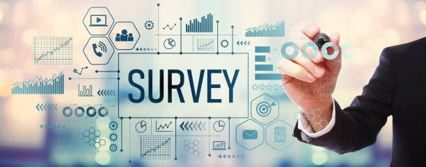 Survey with businessman Survey with businessman on blurred abstract background questionnaire stock pictures, royalty-free photos & images