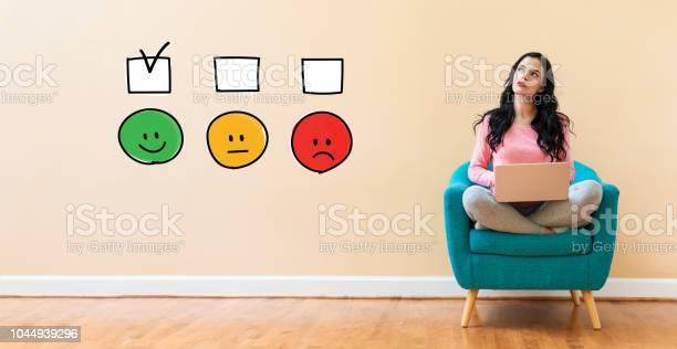 Survey with woman using a laptop picture id1044939296?b=1&k=6&m=1044939296&s=612x612&h=uykhbp3mnbojrgtq1n6pk5psv 7khysarw9ilcomd3u=