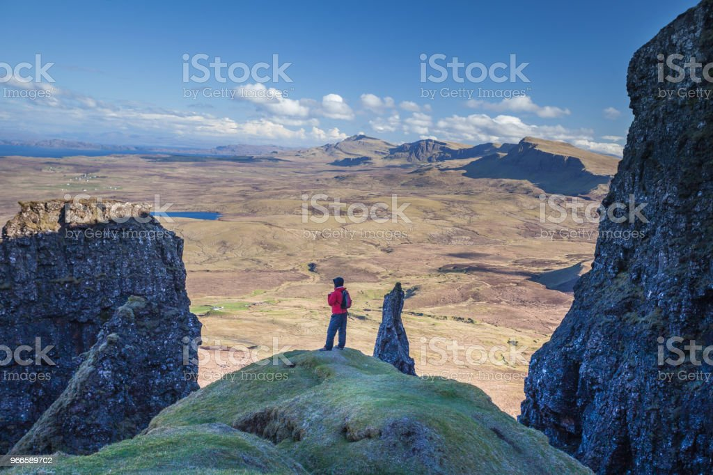 Surveying the Isle of Skye stock photo