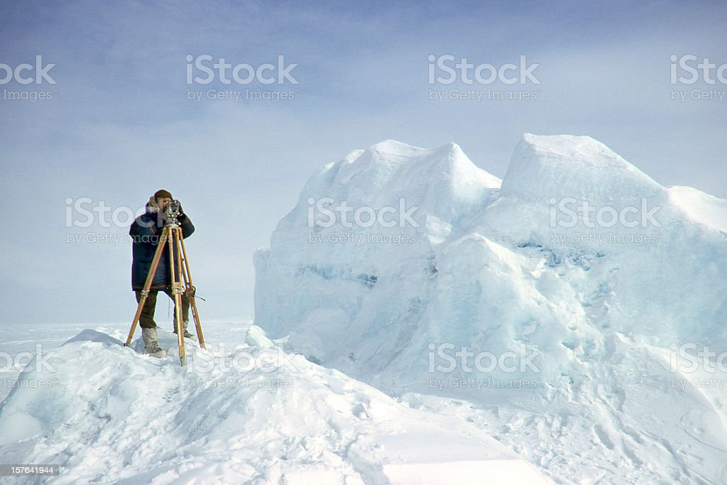 Surveyor in the Arctic royalty-free stock photo