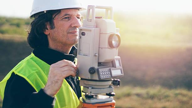 surveyor stock photo