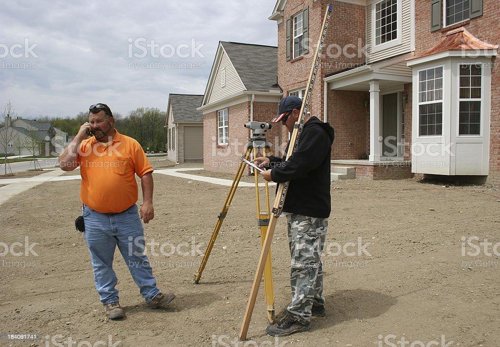 Surveyors royalty-free stock photo
