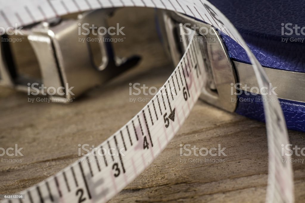 Surveyors Tape Close up stock photo
