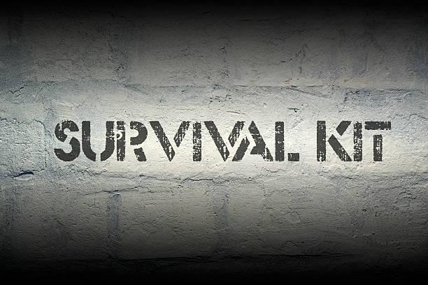 survival kit stock photo
