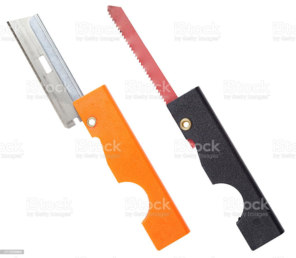 Survival Knife Amp Saw Stock Photo & More Pictures of