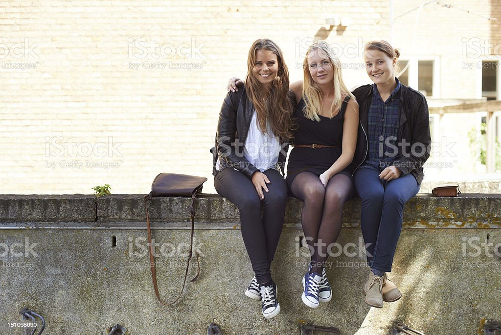 Surviving the teenage years together! royalty-free stock photo