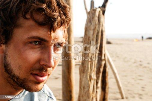 rugged beach guy