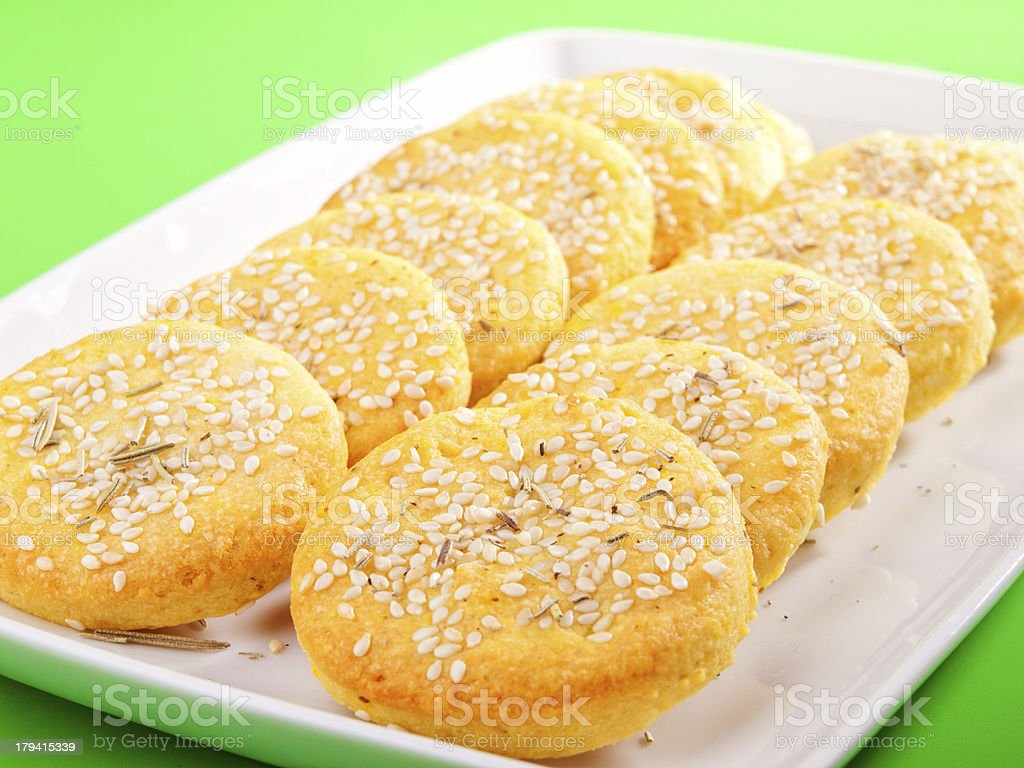 Susame cookies stock photo