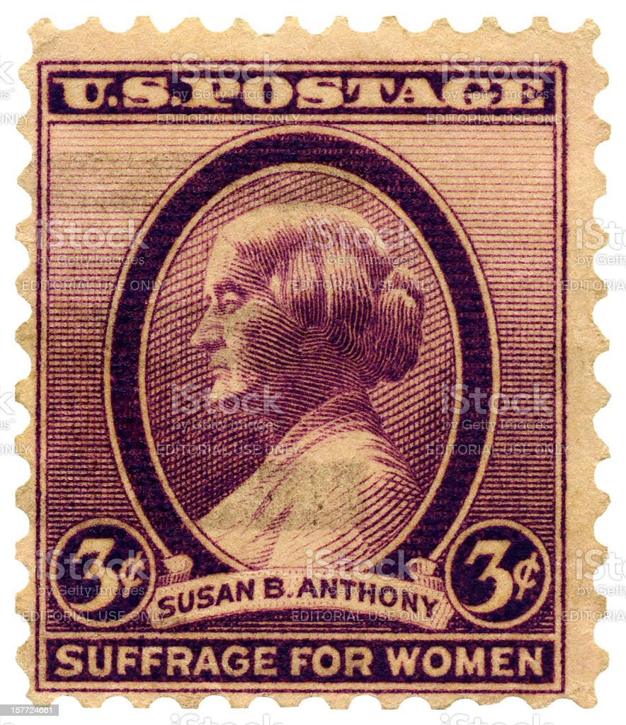 Susan B. Anthony Suffrage for Women (Voting Rights) Postage Stamp stock photo