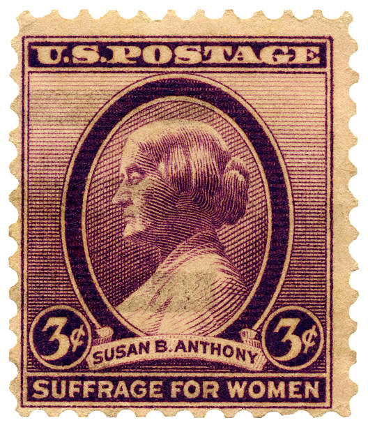 Susan B. Anthony Suffrage for Women (Voting Rights) Postage Stamp  women's suffrage stock pictures, royalty-free photos & images