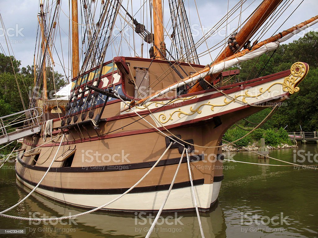 Susan Constant Sailing Ship stock photo