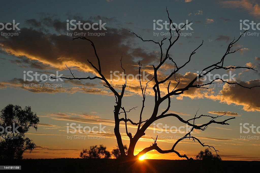 suset at lawn hill national park royalty-free stock photo