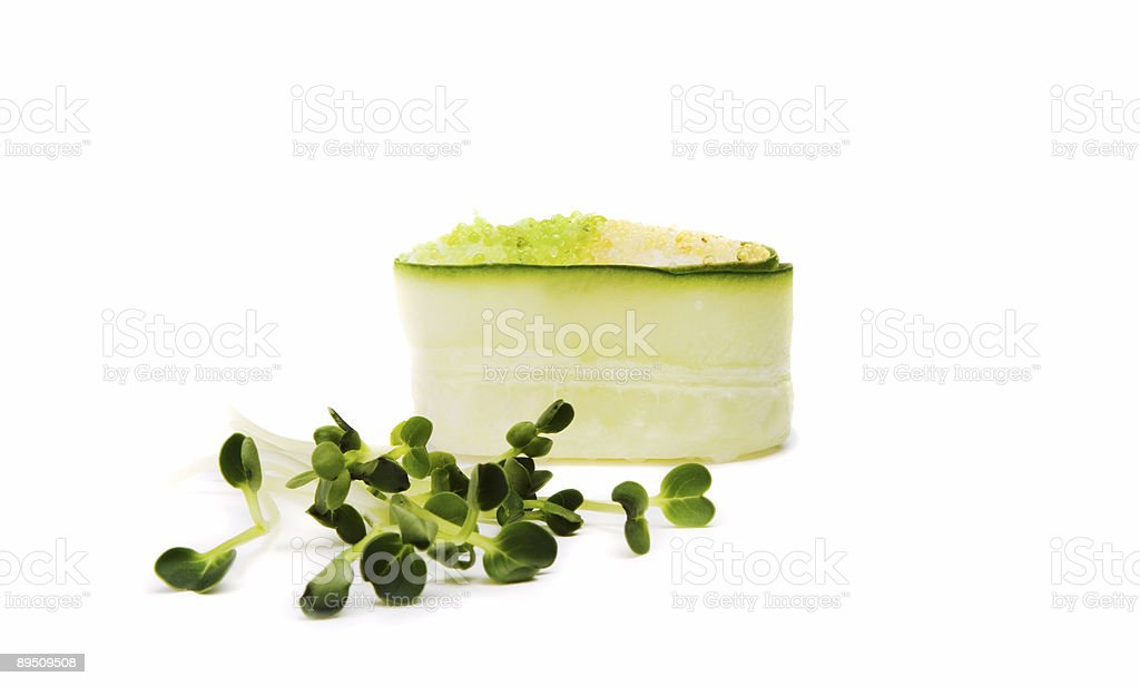 Sushi and fresh green royalty-free stock photo