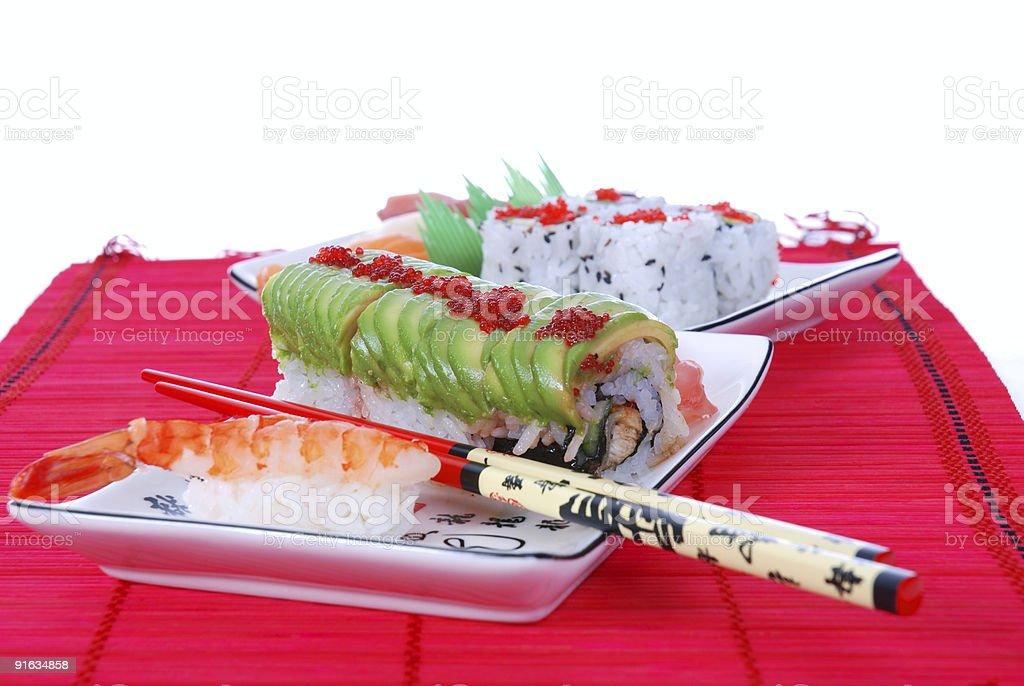 Sushi and maki royalty-free stock photo